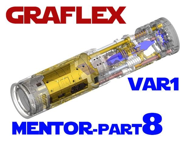 Graflex Mentor - Var1 Part08 - Power Cells Covers in White Natural Versatile Plastic