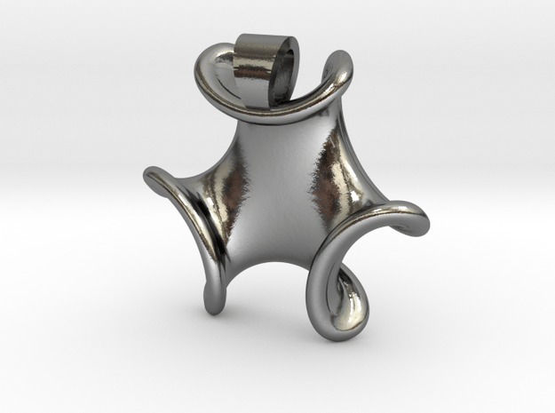 Trilob [pendant] in Polished Silver