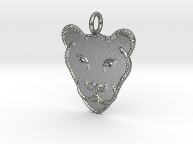 Lioness in Natural Silver