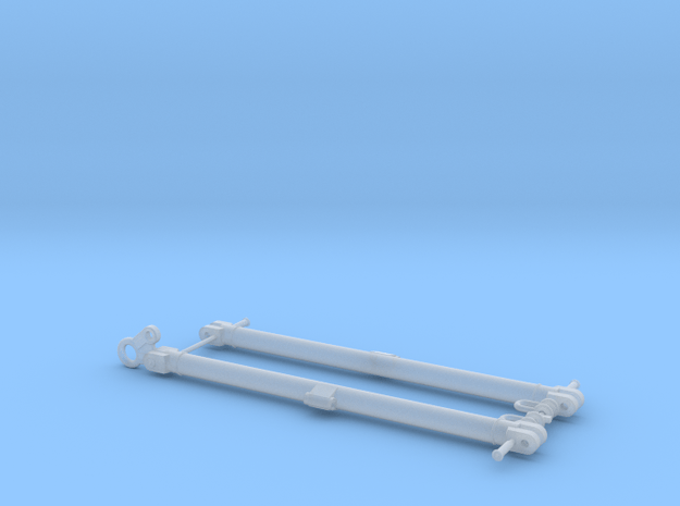 Modern German Towbars 1/16 scale in Smooth Fine Detail Plastic
