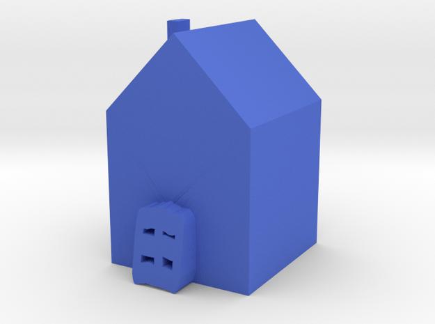 Tiny House in Blue Processed Versatile Plastic