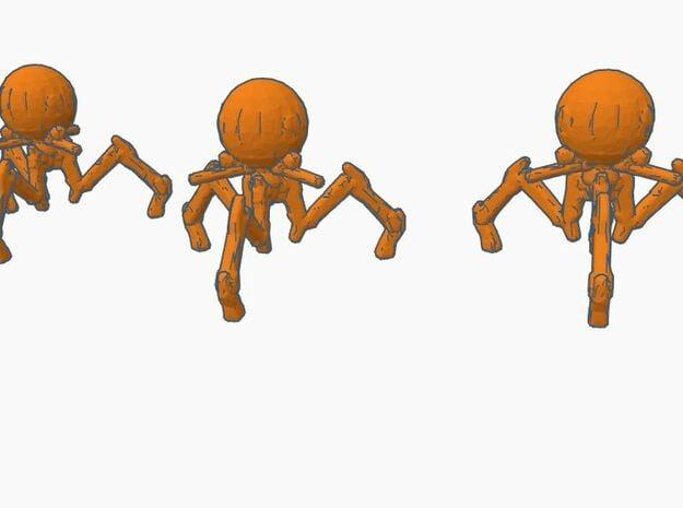 6mm Infantry Octopus Robots in White Natural Versatile Plastic