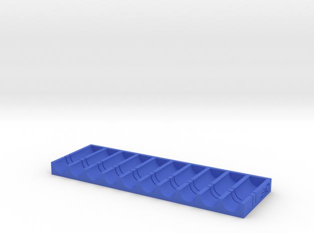 Short Stefan Dart Cutting Jig (10 Darts) in Blue Processed Versatile Plastic