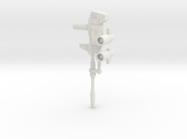 TF WFC Siege - Prowl/Bluestreak Weapons in White Natural Versatile Plastic