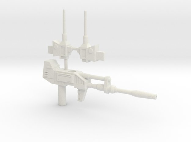 TF WFC Siege - Smokescreen Weapons in White Natural Versatile Plastic