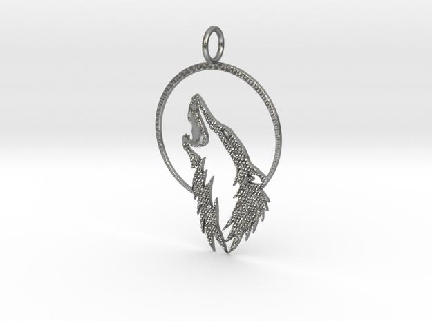 Wolf N' Moon w/ KAPS crust in Natural Silver