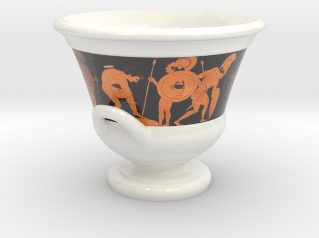 Euphronius Krater Cofee Cup in Glossy Full Color Sandstone