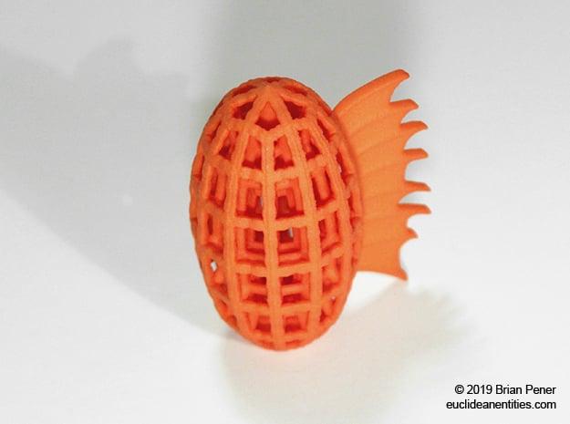 Snap-Oval in Orange Processed Versatile Plastic