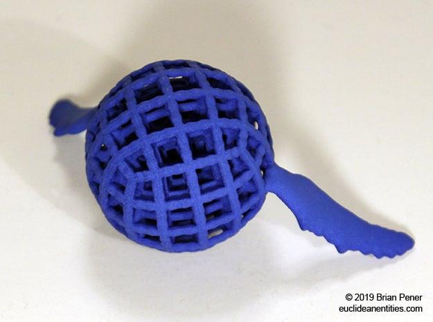 Orb-Whale in Blue Processed Versatile Plastic