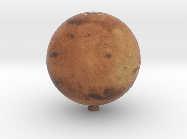 Mars with relief 1:80 million in Natural Full Color Sandstone