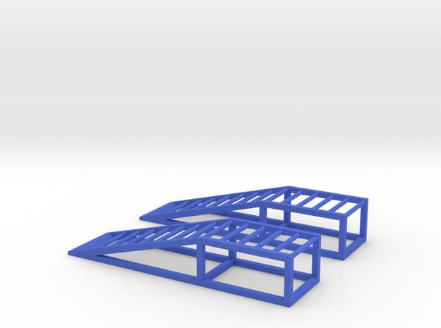 Model Car Ramps - 1/24 - Model Car Diorama in Blue Processed Versatile Plastic