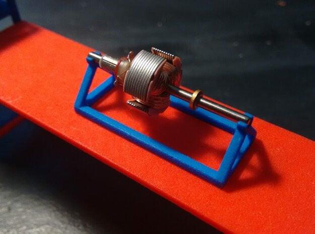 130 Motor Rotor Holder in Blue Processed Versatile Plastic