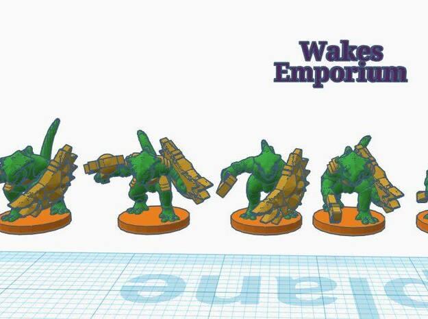 Iguana Warriors in White Natural Versatile Plastic