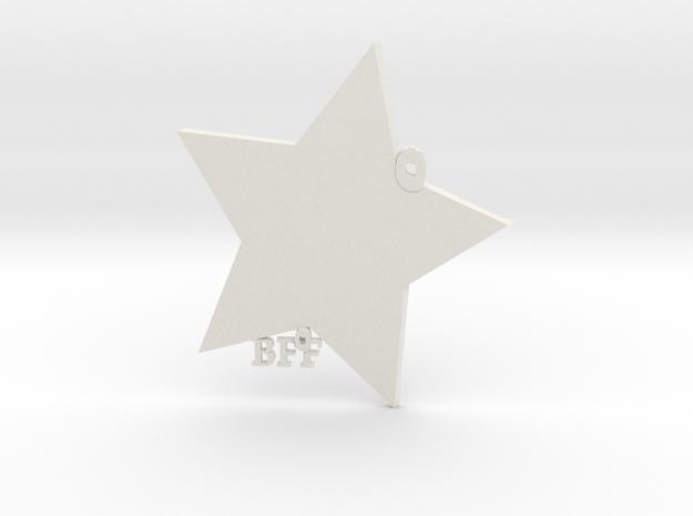 BFF Keychain in White Natural Versatile Plastic