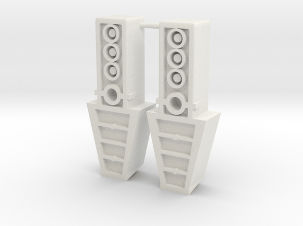 TF WFC Siege - Shockwave Feet Extensions in White Natural Versatile Plastic
