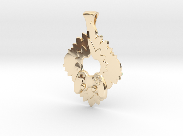 Winged Controller Pendant in 14K Yellow Gold