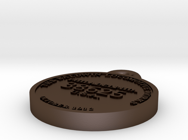 EBT14 Builder's plate in Polished Bronze Steel