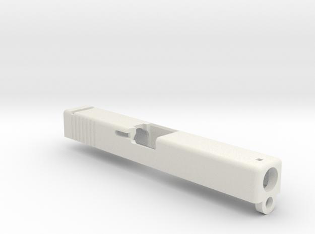 GBB slide for Airsoft Glock 18C  in White Natural Versatile Plastic