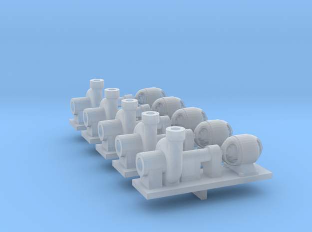 Zentrifugalpumpe ältere Bauart 5erSet - TT 1:120 in Smooth Fine Detail Plastic