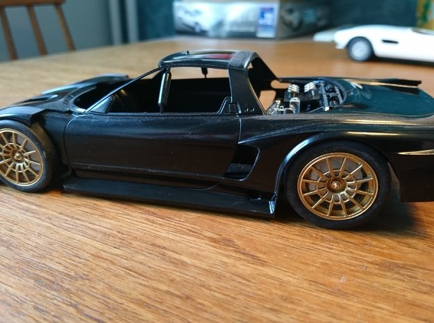 Castrol Mugen NSX 2000 Wheels in Smoothest Fine Detail Plastic