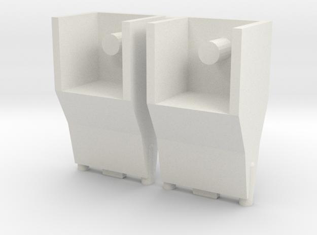 TF WFC Siege - Ironhide Liquid Nitrogen Blasters in White Natural Versatile Plastic