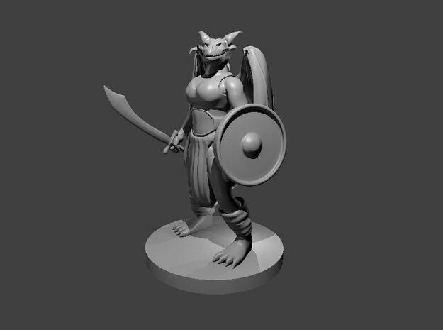 Female Dragonborn Druid in Smooth Fine Detail Plastic
