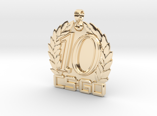CS:GO - Ten Year Veteran Medallion in 14K Yellow Gold