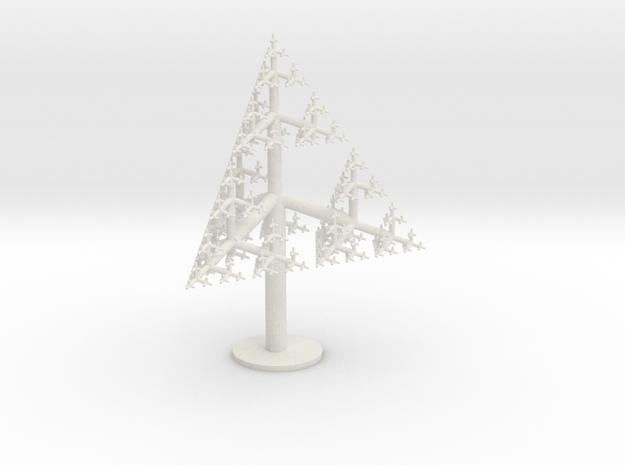 Tetrahedral Tree 50 cm in White Natural Versatile Plastic