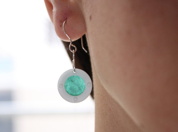 Paper Earrings - Customizable   in White Processed Versatile Plastic