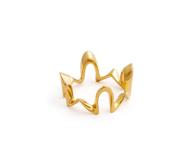 Algaroth ring in 18k Gold Plated Brass: 6 / 51.5