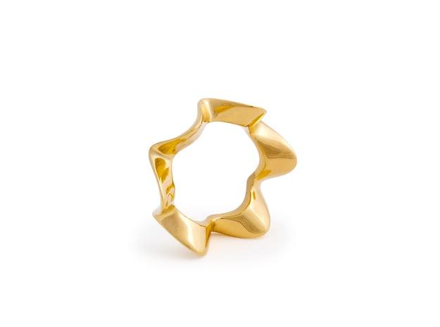 Amylene ring in 18k Gold Plated Brass: 6 / 51.5
