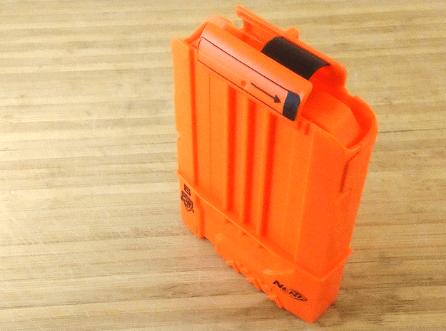 Anti-Jamming Plate (5 Pieces) for Nerf Magazines in Red Processed Versatile Plastic