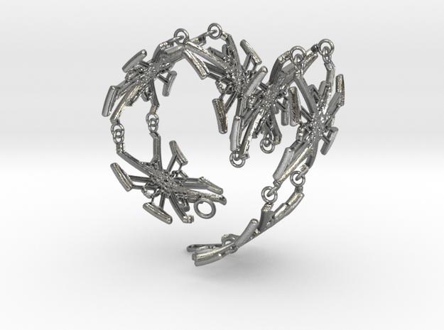 Metal X Bracelet Big 24 cm long