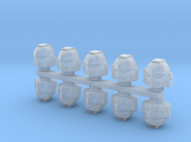 Space Warriors Helmets (10 pcs) in Smoothest Fine Detail Plastic