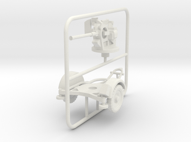 1/72 Flak 38 in White Natural Versatile Plastic