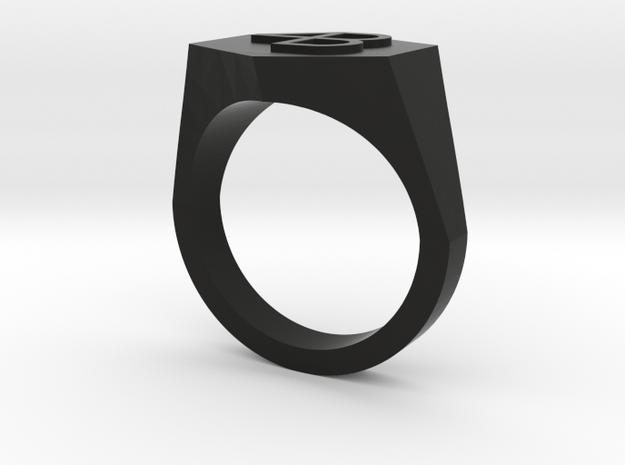 4B embossed-8US in Black Premium Versatile Plastic