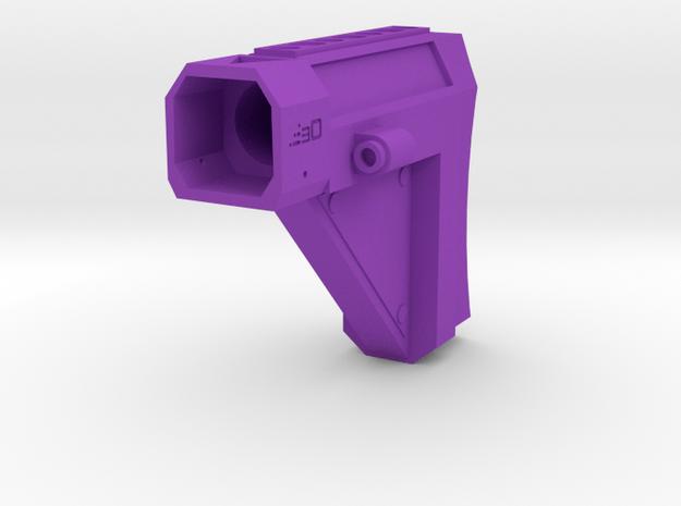 Laser Pulse Carbine Shoulder Stock for Nerf Modulu in Purple Processed Versatile Plastic