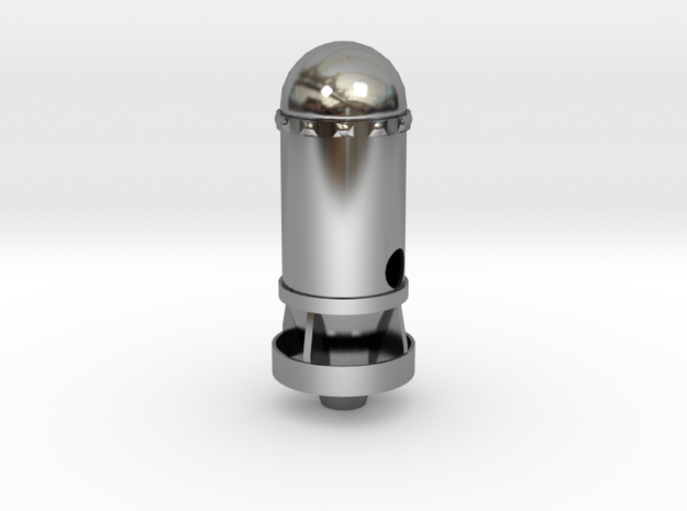 Missile in Antique Silver