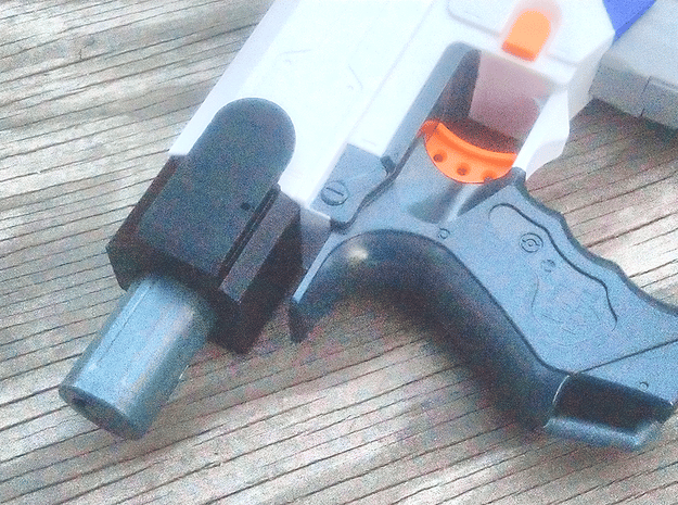 MOLLE Stock Holster for Nerf Modulus (Left Handed) in Red Processed Versatile Plastic