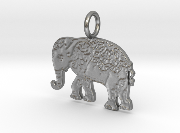 Elephant  in Natural Silver