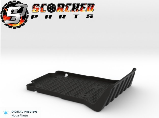 Axial Wraith Bed Liner / Rear Tub in Black Natural Versatile Plastic
