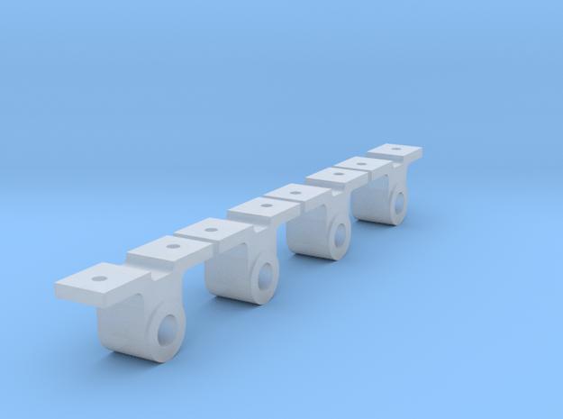AB07 Turner Bros Axlebox (Corris Railway) x4 SM32 in Smooth Fine Detail Plastic