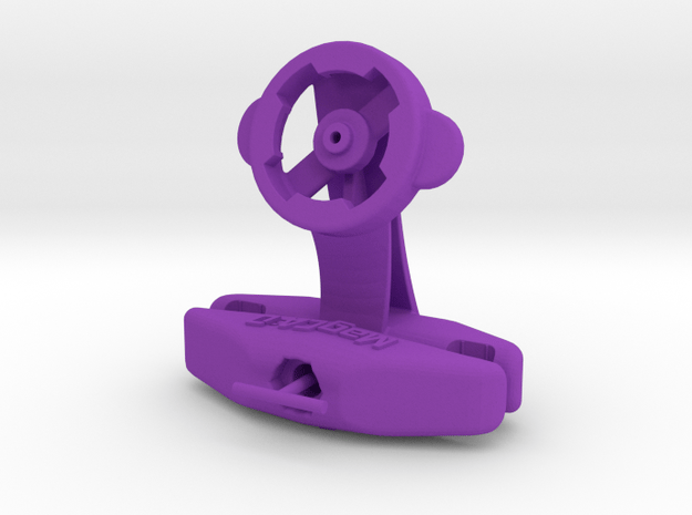 Lezyne GPS Saddle Mount - Track Cycling in Purple Processed Versatile Plastic