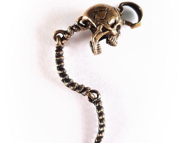 Skull Pendant | Clone in Natural Brass (Interlocking Parts)