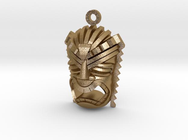 Ku Tiki Pendant in Polished Gold Steel