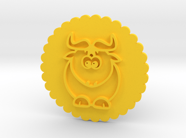 Cookie stamp / Stamp in Yellow Processed Versatile Plastic