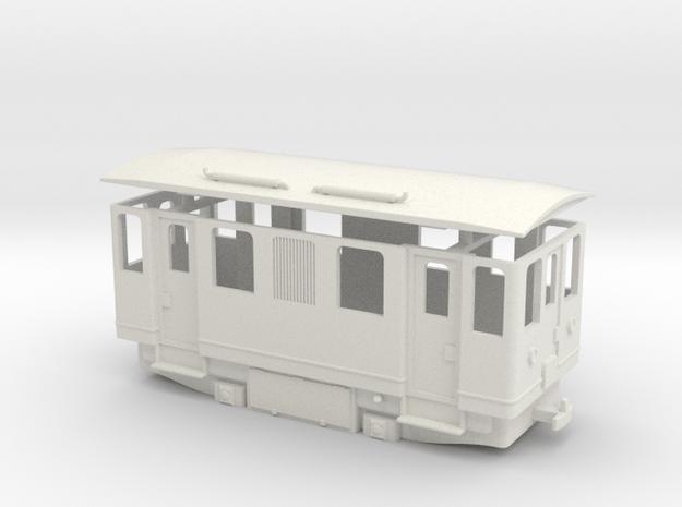 AD1s H0e / 009 simplified diesel railcar in White Natural Versatile Plastic