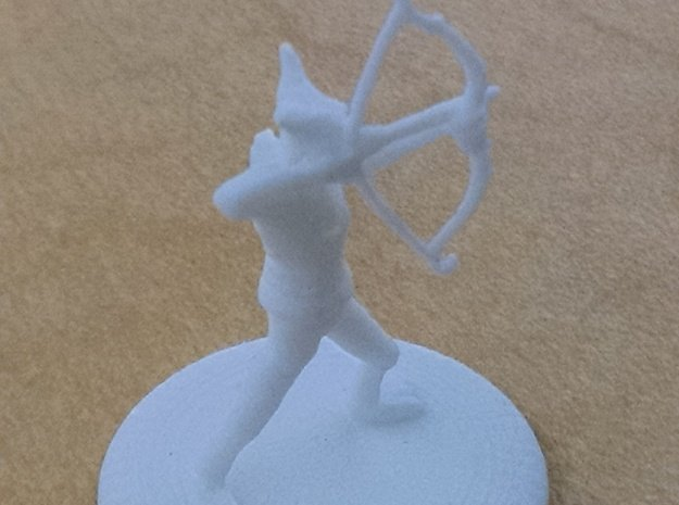D&D Wilden Seeker with Bow and Arrow Mini in White Processed Versatile Plastic