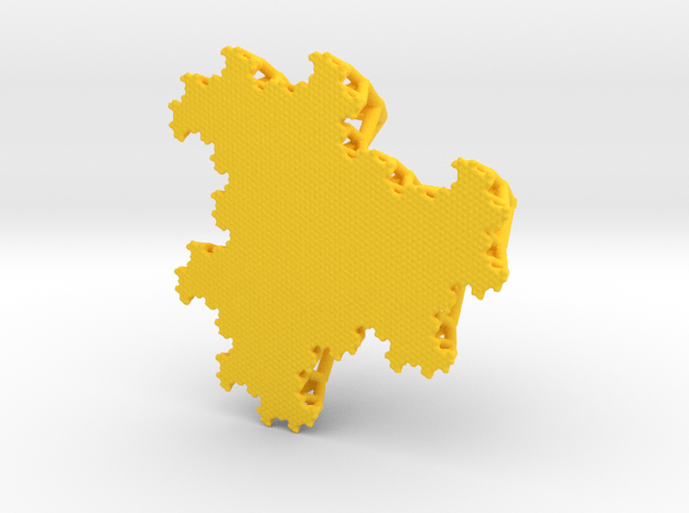 The Fludgeflake Table Tree (small) in Yellow Processed Versatile Plastic