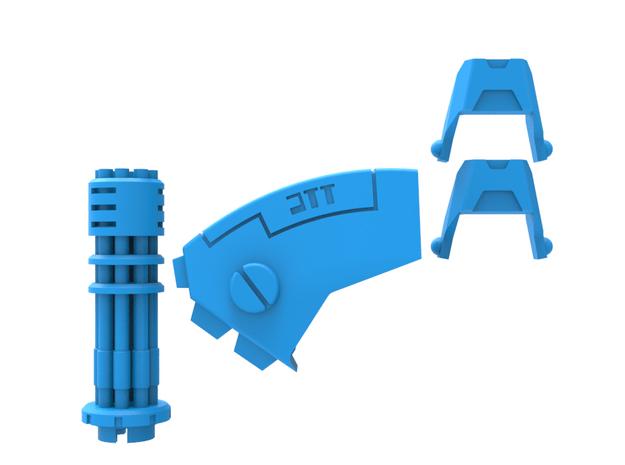 Tsunami Mech Upgrade Kit (Superlight, Short Barrel in Smooth Fine Detail Plastic